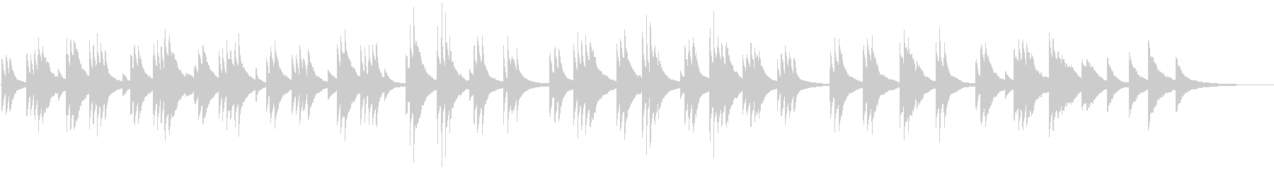 Piano ballad to play with a touch that looks like's unreproduced waveform