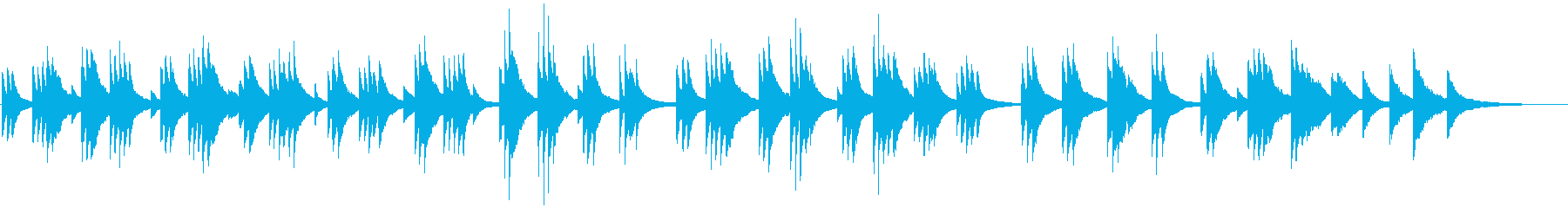 Piano ballad to play with a touch that looks like's reproduced waveform