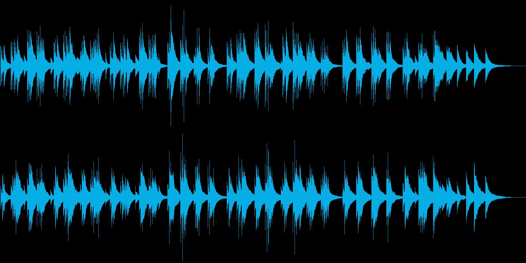 囁くようなタッチで弾くピアノバラードの再生済みの波形