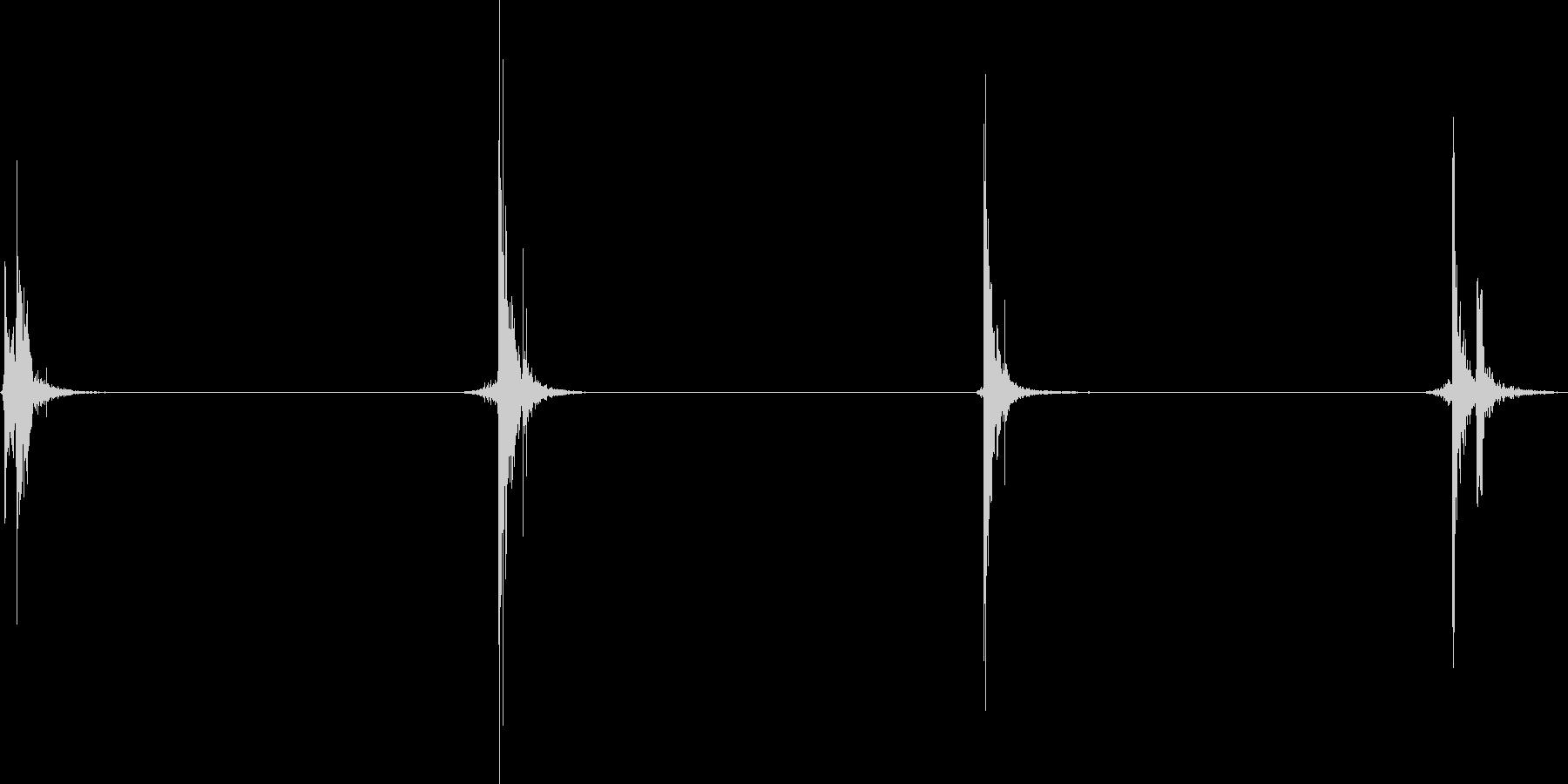 汎用的な足音の未再生の波形