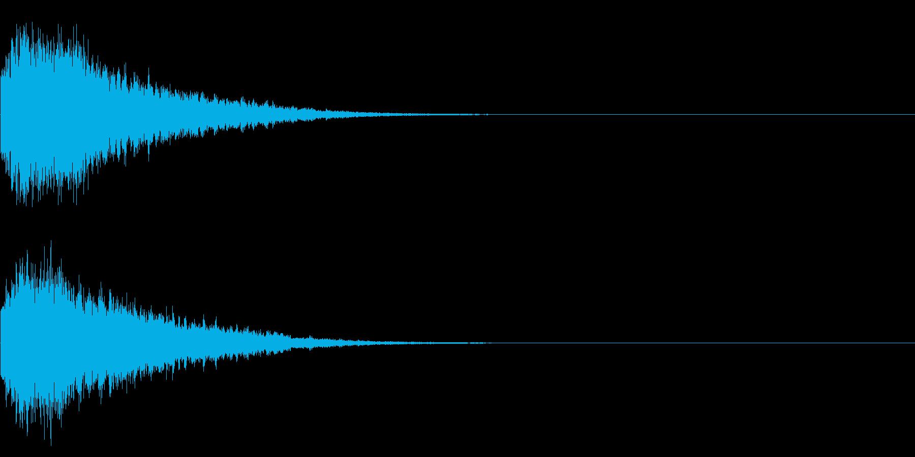 きらりらーん(可愛らしい登場、決定音等)の再生済みの波形