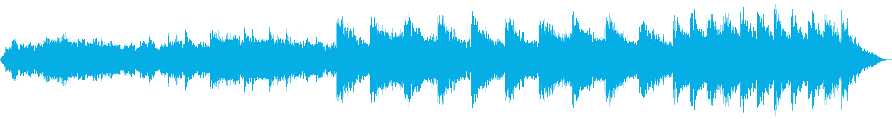 洞窟の中にいるようなヒーリングBGMの再生済みの波形