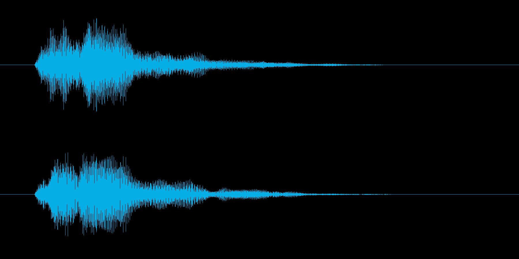ファン(決定・魔法発動・光・システム音)の再生済みの波形