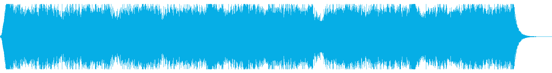ニュース番組のヘッドラインの再生済みの波形