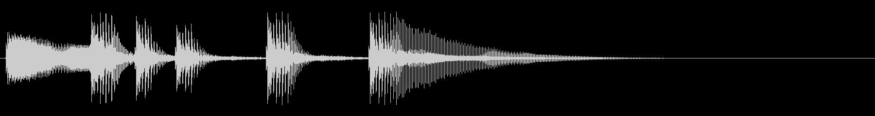 アニメ系失敗効果音2の未再生の波形