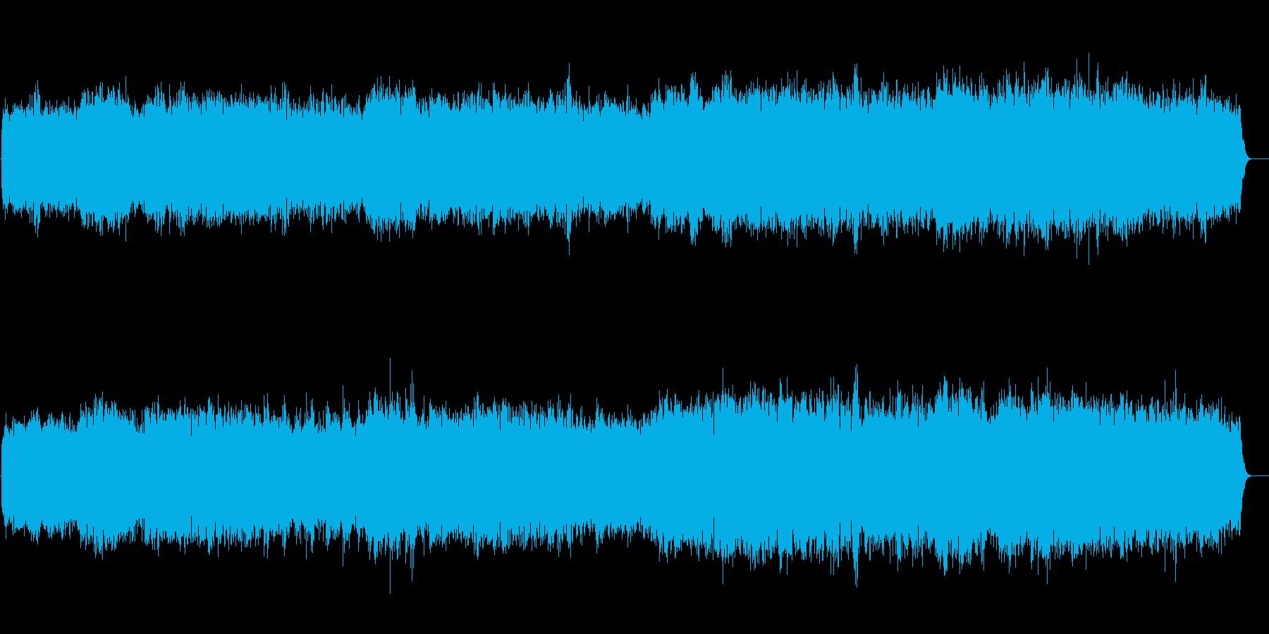 リラクセイション系 浮遊感サウンドの再生済みの波形