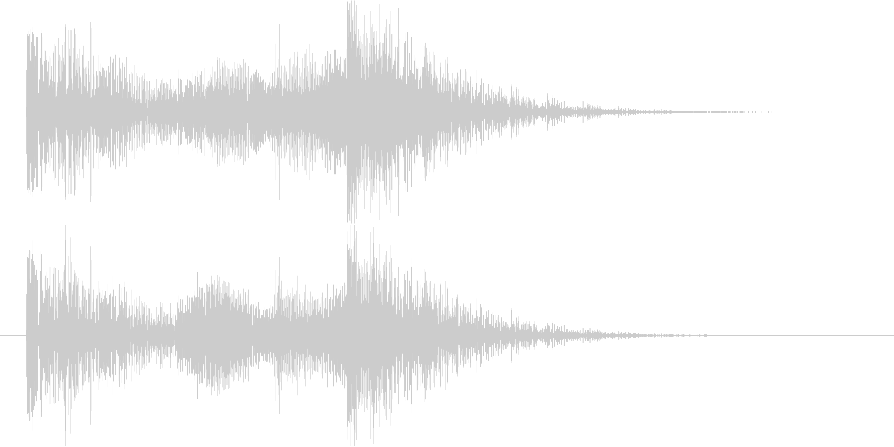 効果音SE的なジングル。重い音。の未再生の波形