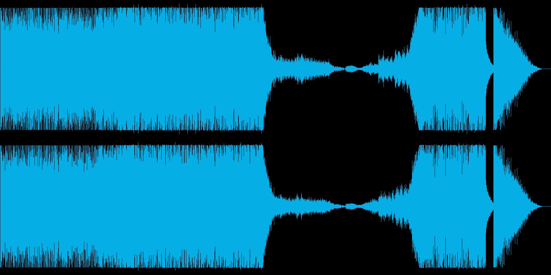 高揚感のあるバトル系BGMの再生済みの波形