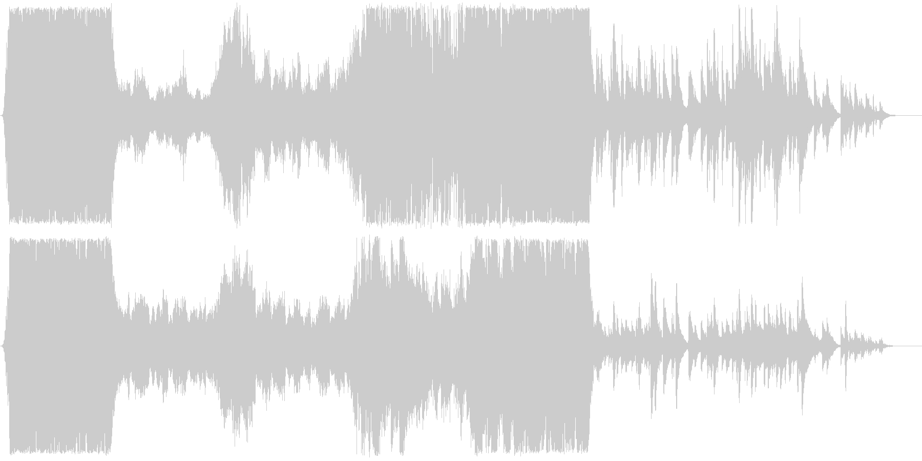 おもてなすアーチ前のファンファーレの未再生の波形