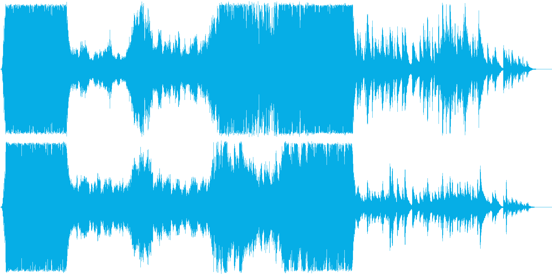 おもてなすアーチ前のファンファーレの再生済みの波形