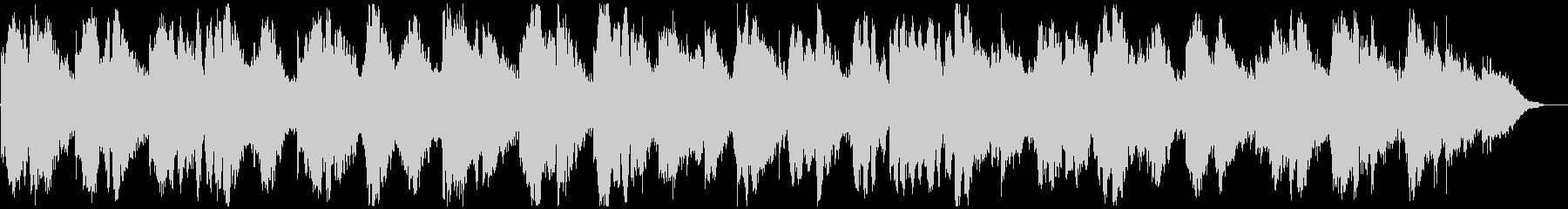 キラキラ神秘的、深海のようなリラックス曲の未再生の波形