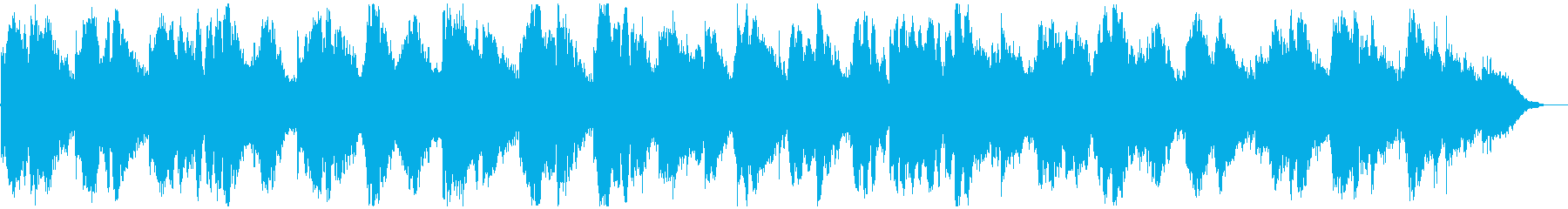 キラキラ神秘的、深海のようなリラックス曲の再生済みの波形
