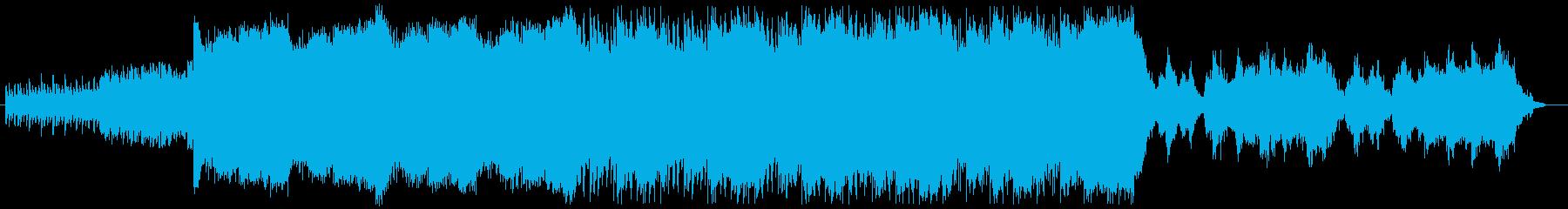シンプルなピアノから始まり、ヒーリング的の再生済みの波形