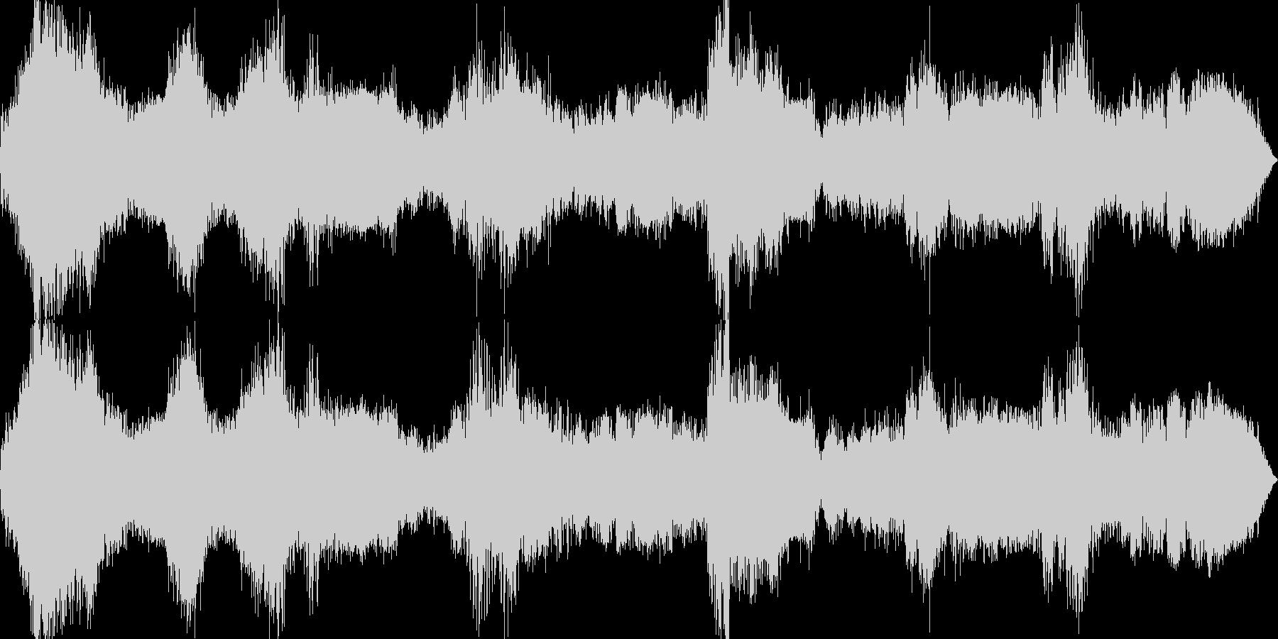 カーチェイスの未再生の波形