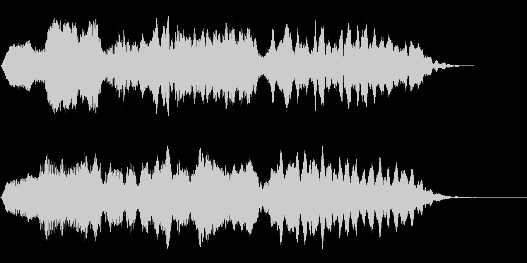 フルートの明るいジングル・場面転換4の未再生の波形