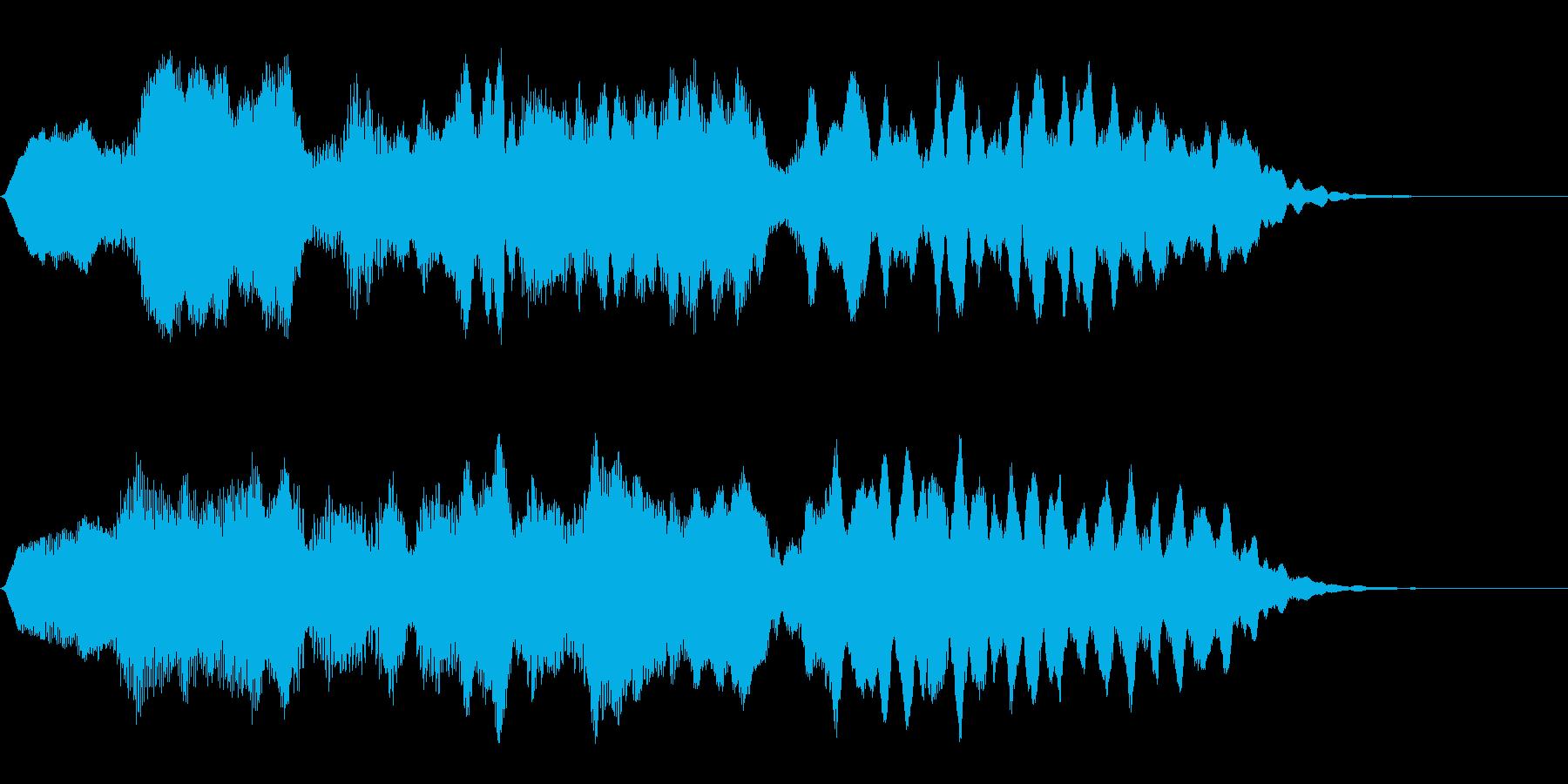 フルートの明るいジングル・場面転換4の再生済みの波形