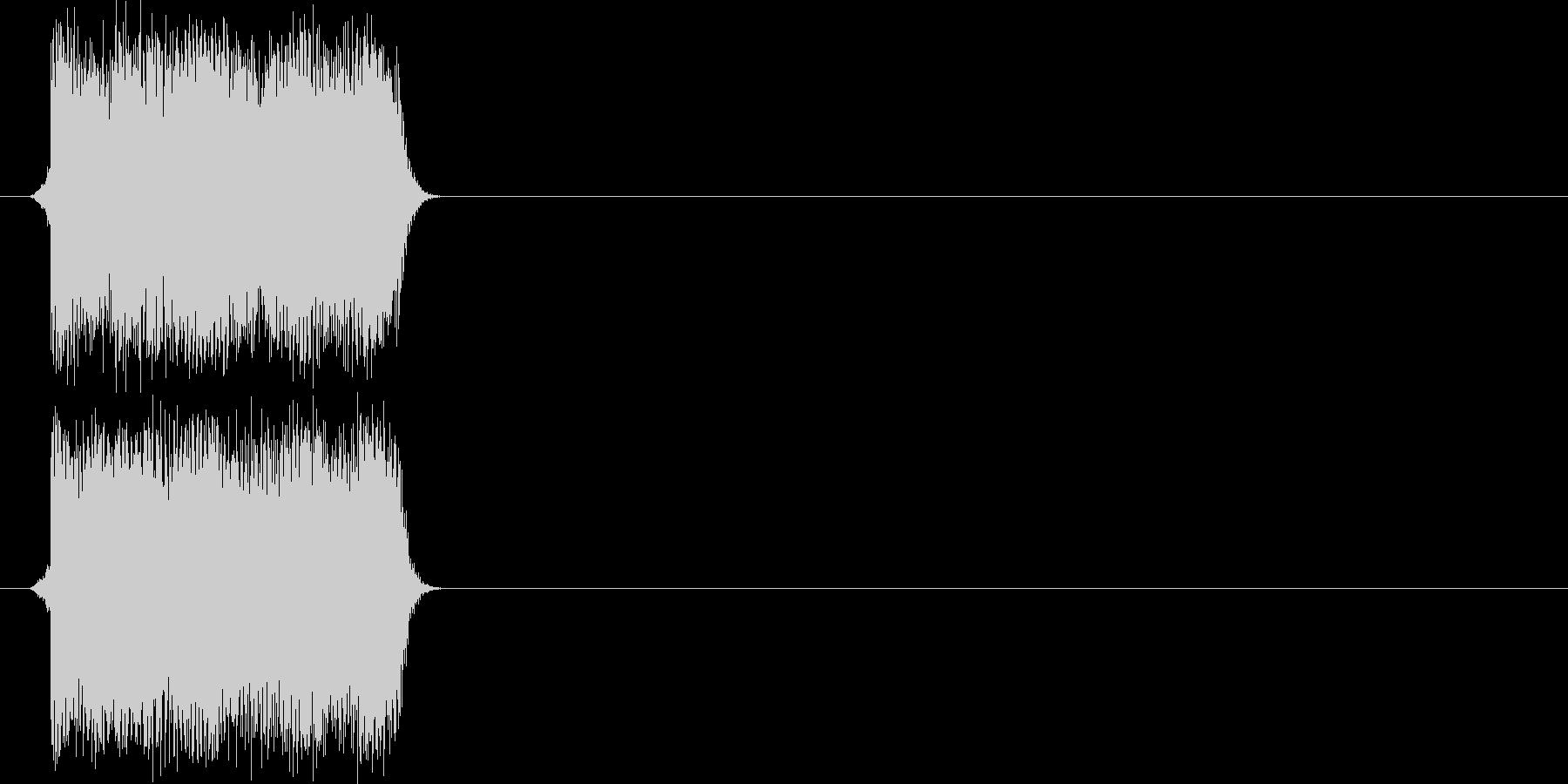 ボタンを押した時の効果音その2の未再生の波形
