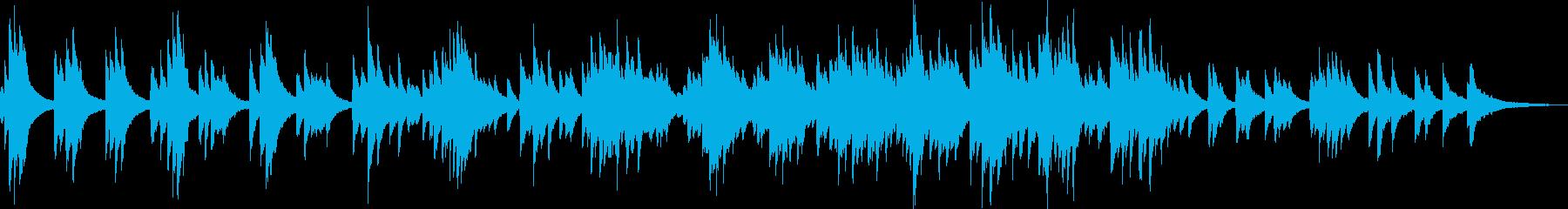 優しくて切ない感動的なピアノバラードの再生済みの波形