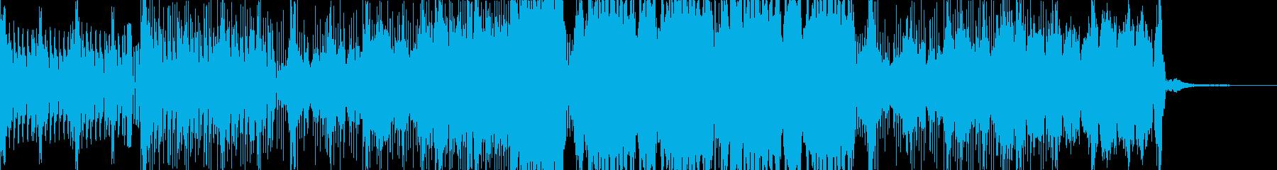 暗めなダンスミュージックの再生済みの波形