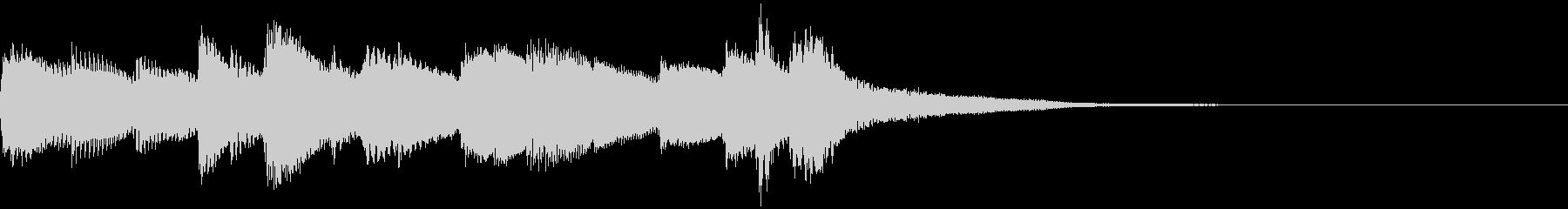 ほのぼの癒し系ピアノジングルの未再生の波形
