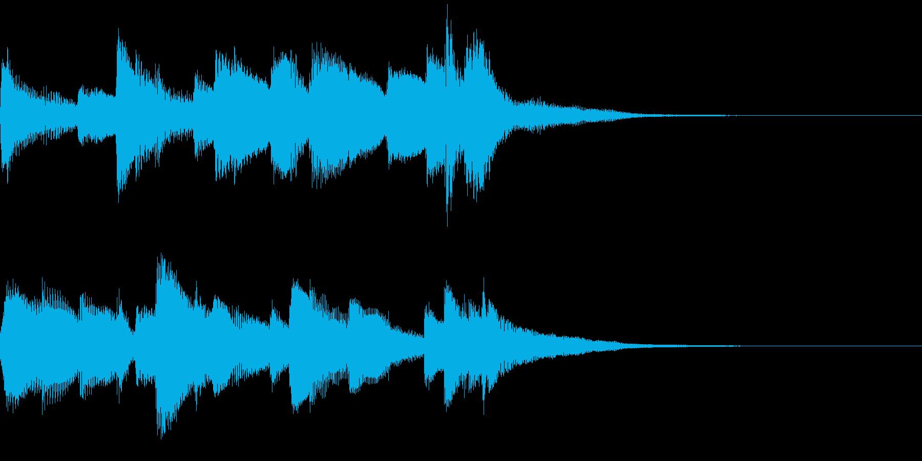 ほのぼの癒し系ピアノジングルの再生済みの波形