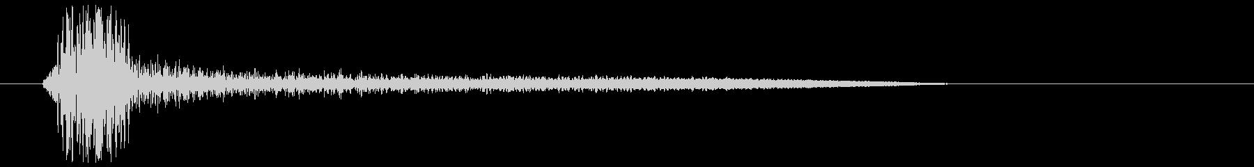リムショット(シンプル)の未再生の波形
