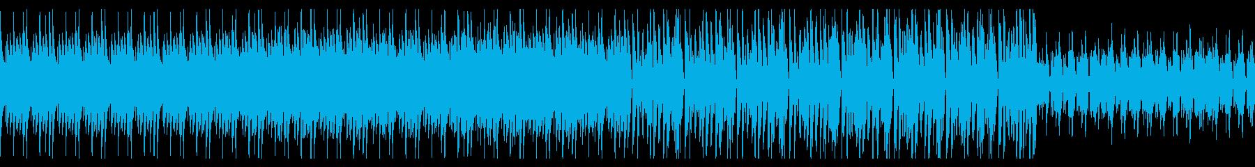 電子音のテクスチャBGMの再生済みの波形