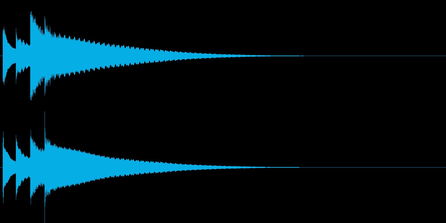 汎用14 ピンポンパンポーン(上昇)の再生済みの波形