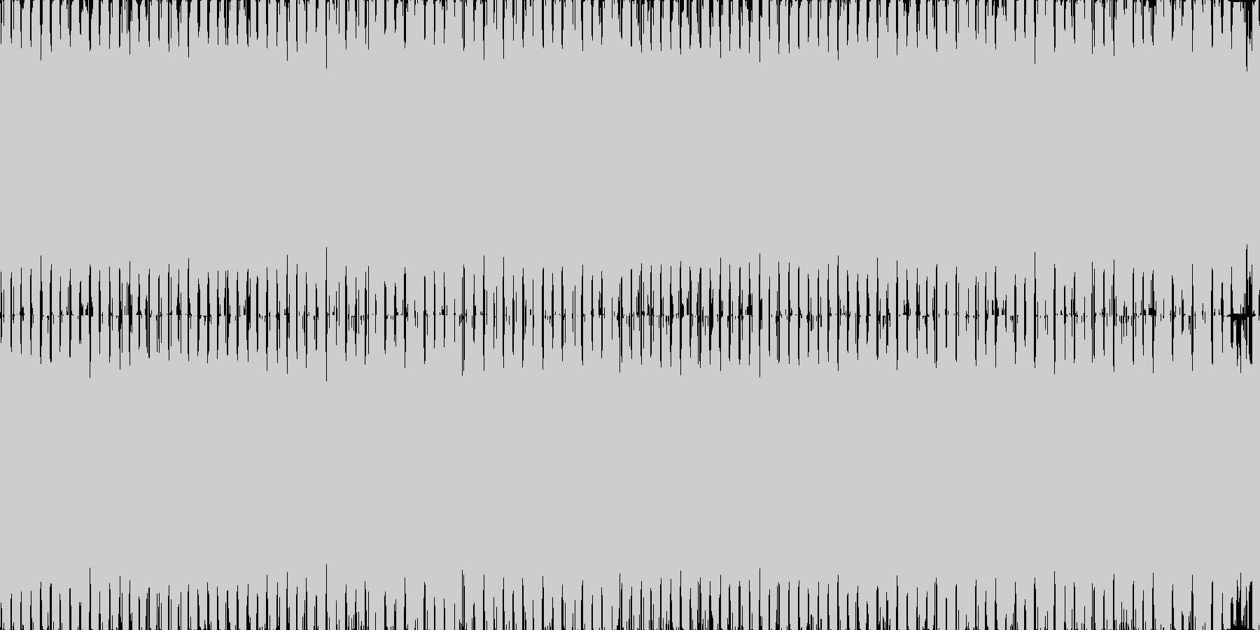 アグレッシブでループするダンス系の未再生の波形