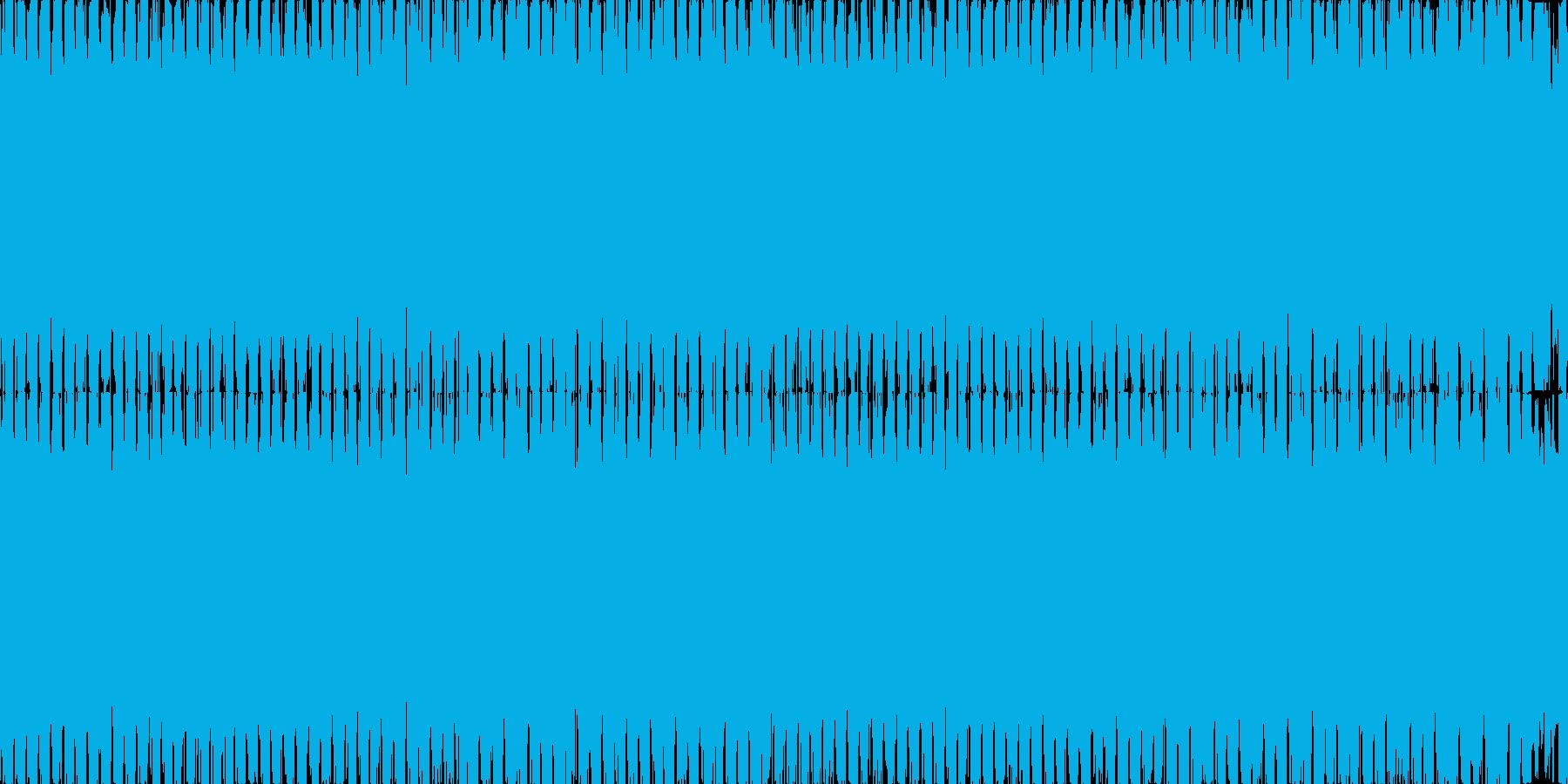 アグレッシブでループするダンス系の再生済みの波形