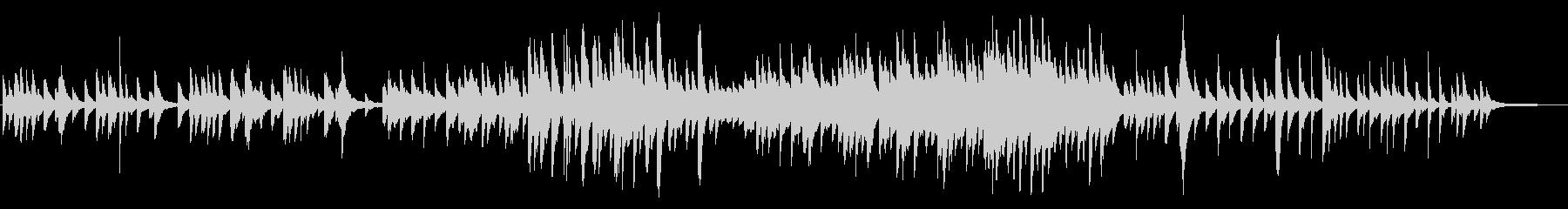 ゆったりとした切ないピアノ曲の未再生の波形