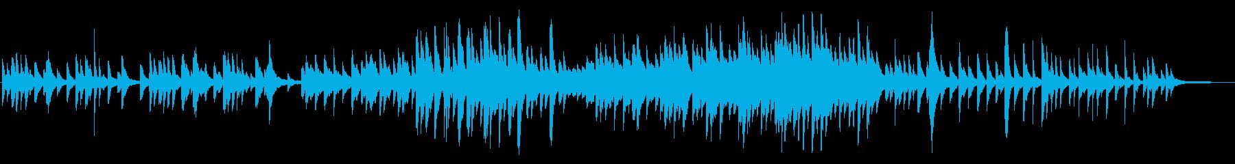 ゆったりとした切ないピアノ曲の再生済みの波形