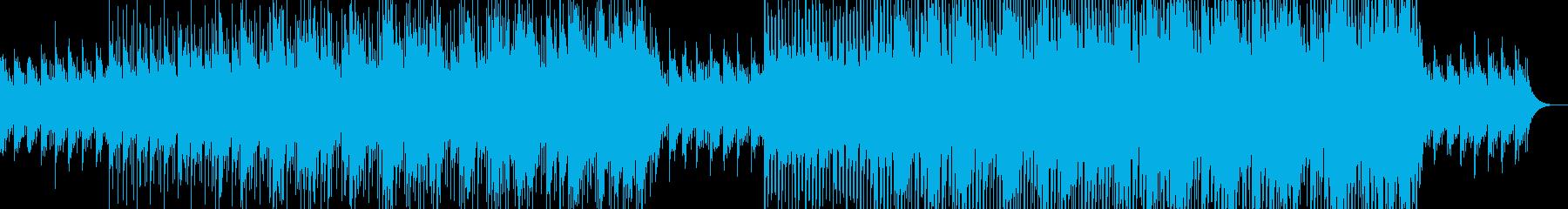 明るく爽やかなメロディの透明感のある曲の再生済みの波形