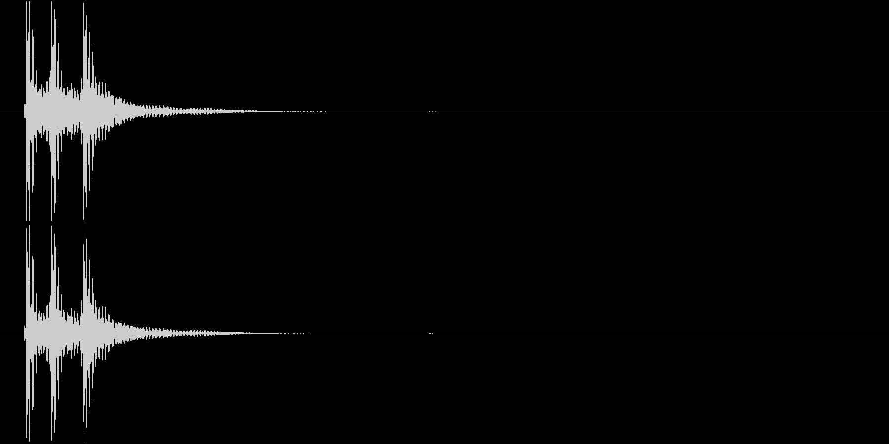 津軽三味線の生音三連打(C音)の未再生の波形