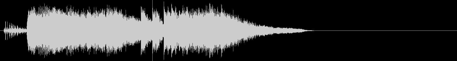 バイオリンメインのジングルの未再生の波形