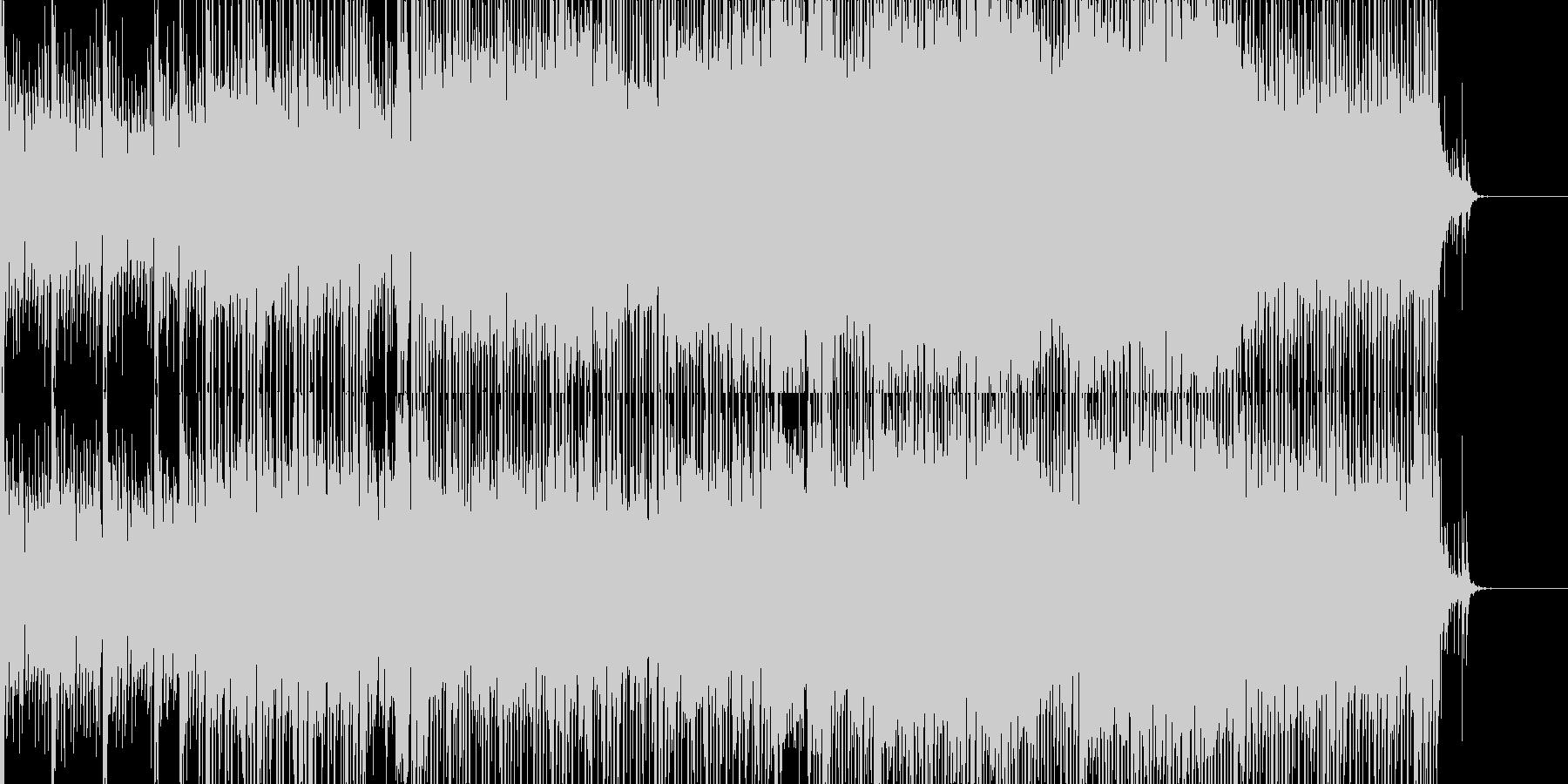 爽やかなシンセのダンスポップBGMの未再生の波形