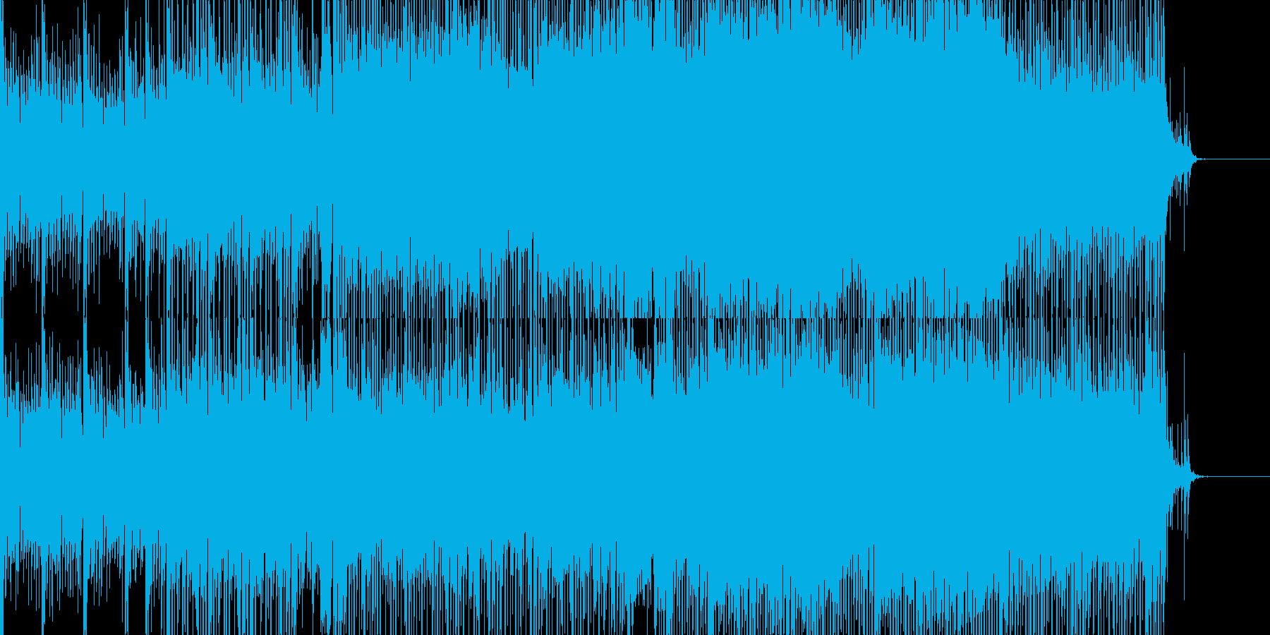 爽やかなシンセのダンスポップBGMの再生済みの波形