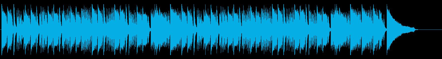 軽やかなピアノの協奏曲の再生済みの波形