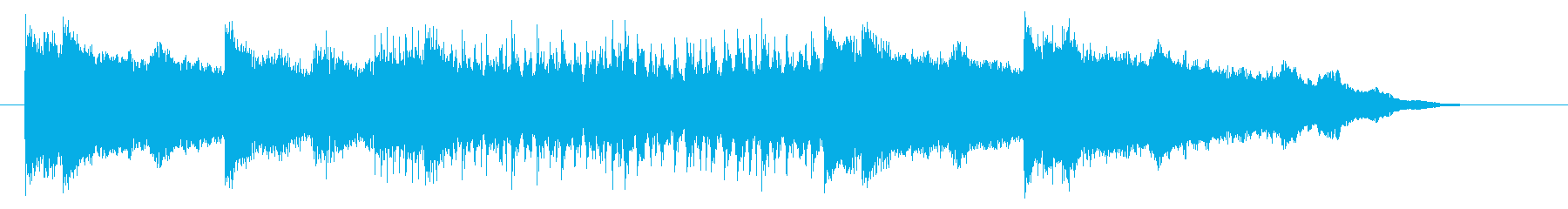 グルーブ感溢れるロックミュージックの再生済みの波形