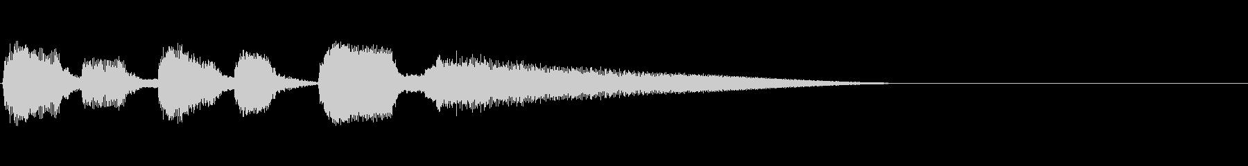 Guitarジングル4/おしゃれコードの未再生の波形