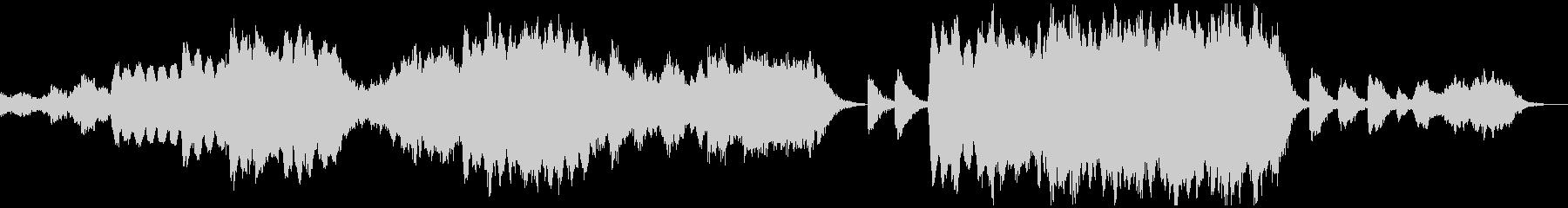 心落ち着くエスニックなヒーリングBGMの未再生の波形