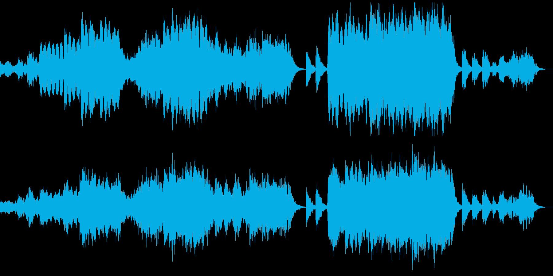 心落ち着くエスニックなヒーリングBGMの再生済みの波形
