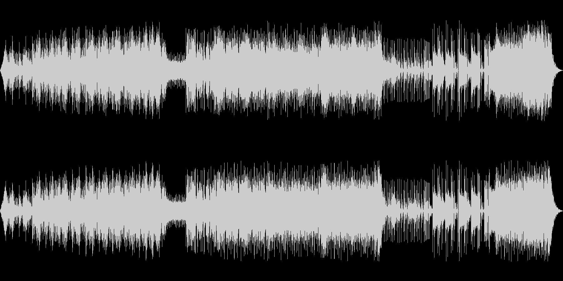 独特な緊張感のあるエレクトロニックロックの未再生の波形