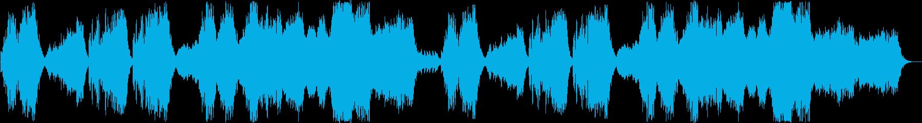 穏やかなリラックスできるヒーリング曲の再生済みの波形