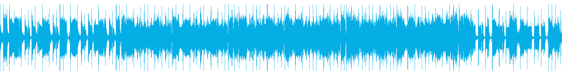"""""""ループ"""" 音数少な目シンプルなファンクの再生済みの波形"""
