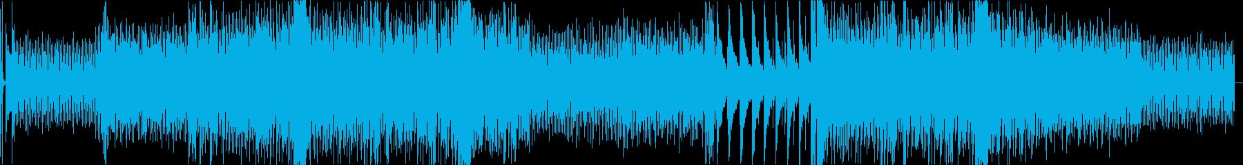 緊張した雰囲気の疾走感あるBGMの再生済みの波形