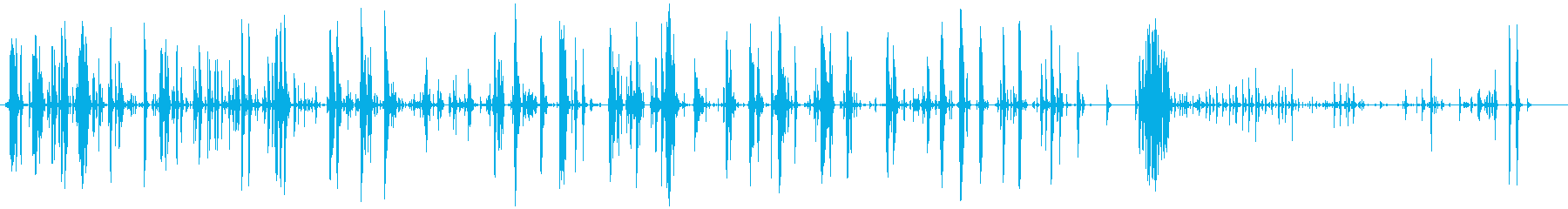 家庭 カップガラガラハード03の再生済みの波形