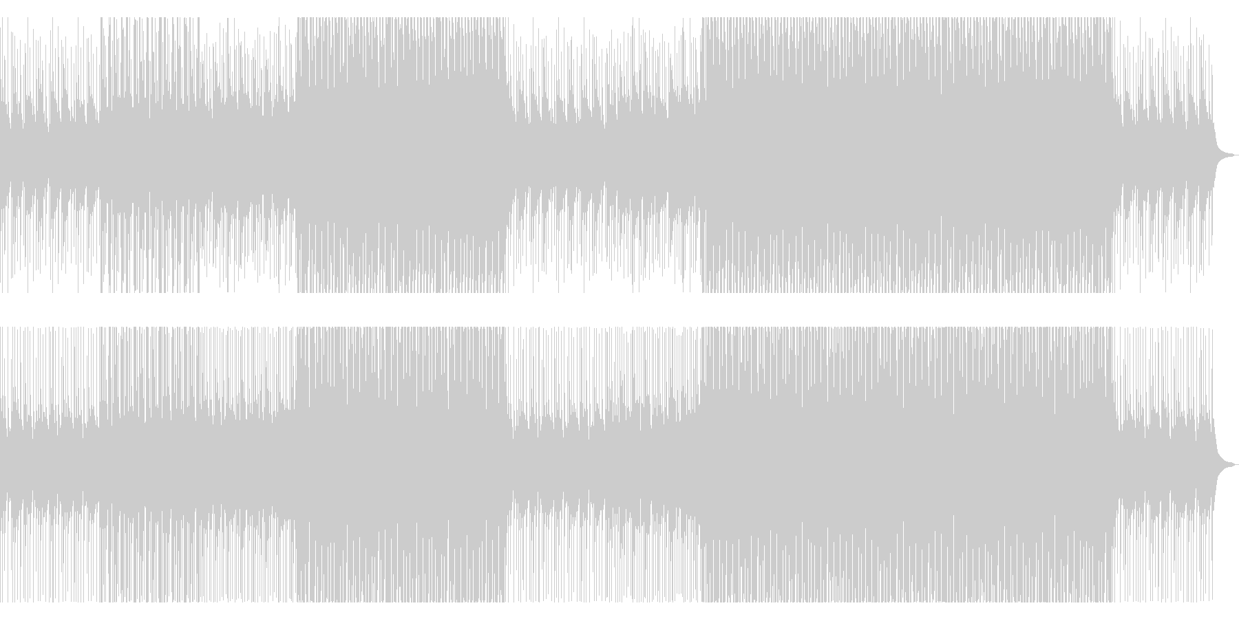 カリンバ、マリンバのさわやかポップスの未再生の波形