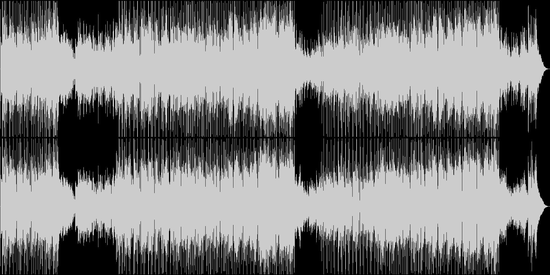 ゆったりE・ギターとフィドルのカントリーの未再生の波形