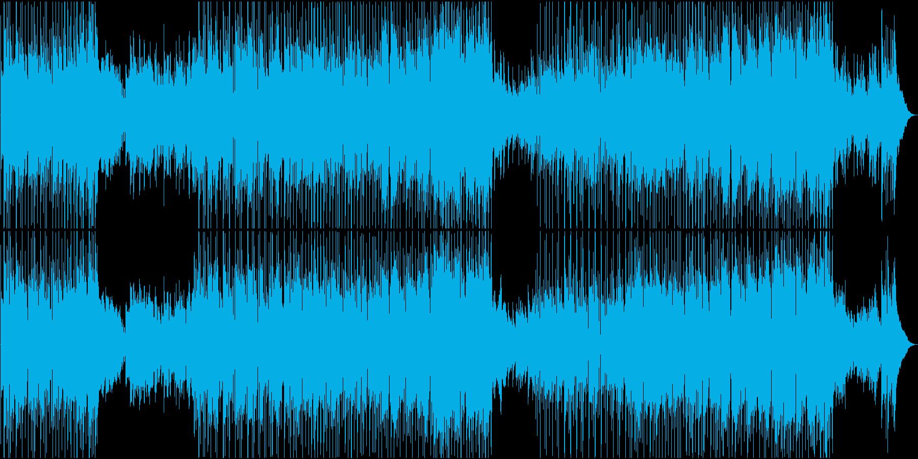 ゆったりE・ギターとフィドルのカントリーの再生済みの波形